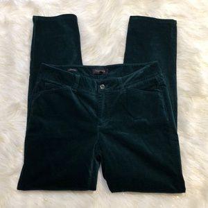 Talbots Signature Green Velvety Soft Pants 8